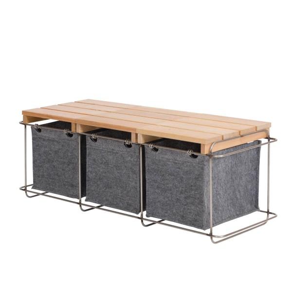 Sitzbank mit flexiblem Stauraum GRIT