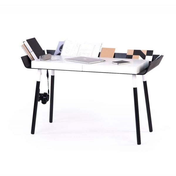 Schreibtisch mit zwei Schubladen MWD schwarz