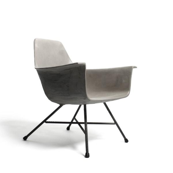 Sessel aus Beton LOW HAUTEVILLE