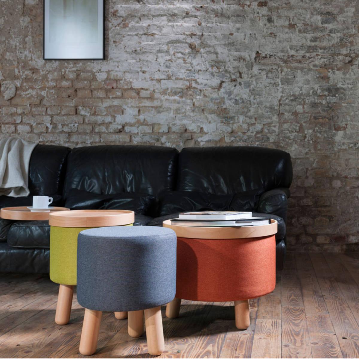 hocker molde mit abnehmbarem tablett gro hocker designerm bel. Black Bedroom Furniture Sets. Home Design Ideas