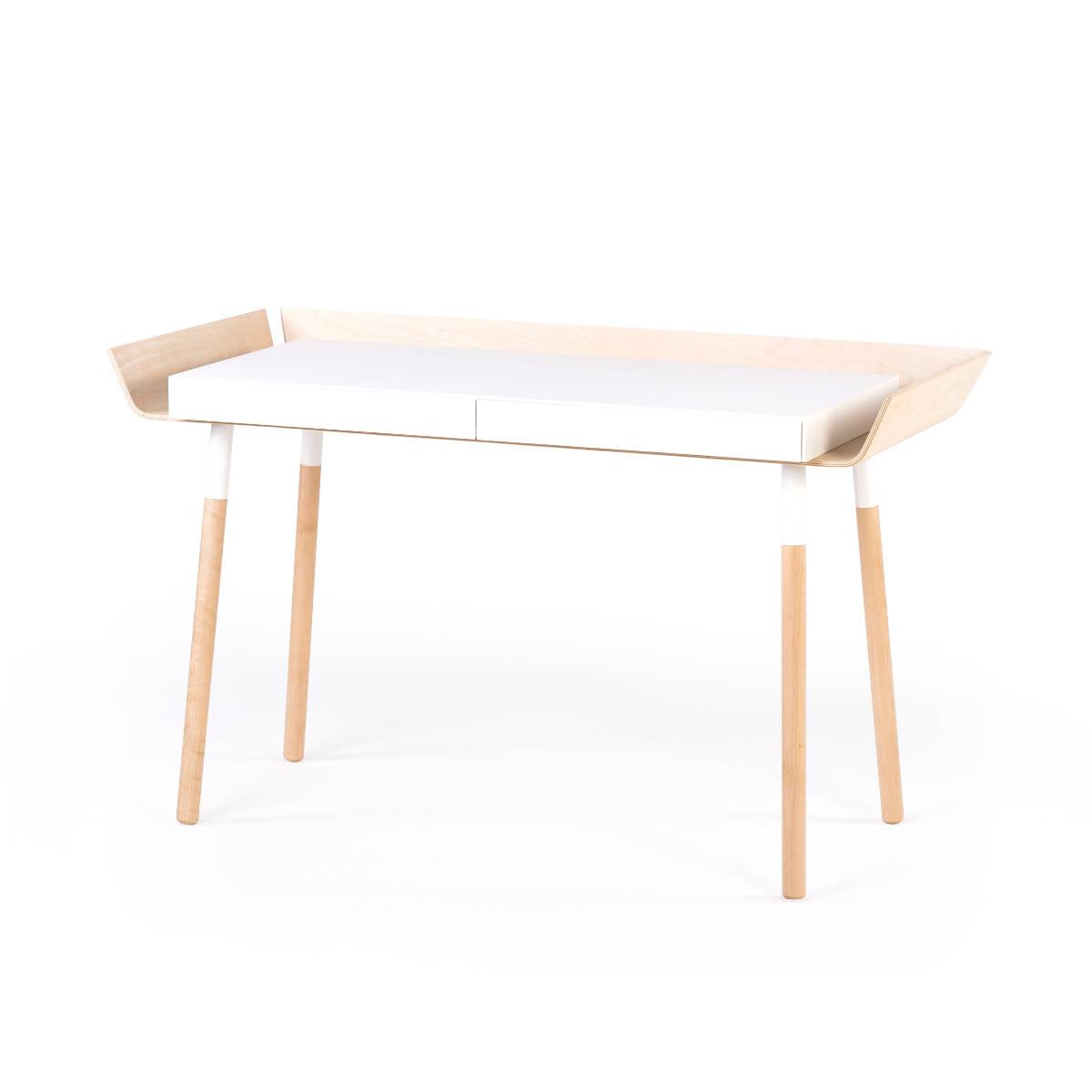 schreibtisch in wei mit zwei schubladen von emko. Black Bedroom Furniture Sets. Home Design Ideas